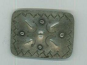 """Southern Plains German Silver Brooch c.1890-1900"""
