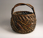 Japanese bamboo basket by Kyokusai