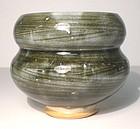 Ao Hakeme Stacked Stones Lobed Teabowl (1110tb)