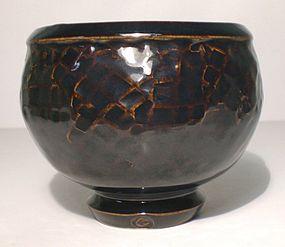 Temmoku Tataki Wan-Gata Teabowl (1112tb)
