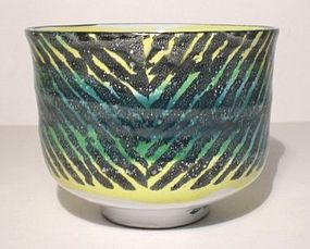 Majolica Alternating Rain Patterned Teabowl