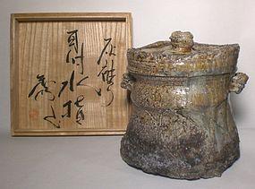 Large Haikaburi Style Mizusashi By Suzuki Hideo