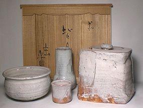 Shiro-Hagi Chaki Set By Udagawa Seikoku