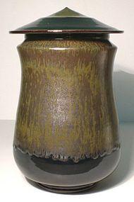 Temmoku & Tetsu Glazed Cap Jar (CP02)