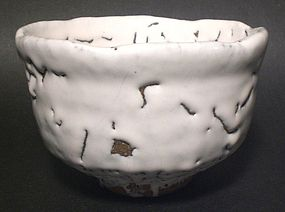 POWERFUL SHIRO-HAGI CHAWAN BY MASHITA TADASHI
