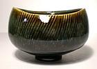 Temmoku & Haiyu Kushime Bunrin-gata Teabowl (1134tb)