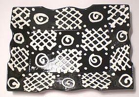 Terra Cotta Black & White WF&E Tray