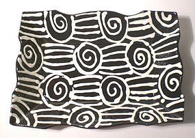 Terra Cotta Black & White Spirali e Tagli Tray