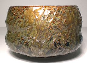 Lg. Tataki Paddled Waisted Teabowl (1140tb)