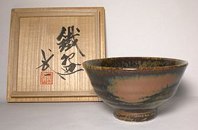 LARGE TESSHA GLZED CHAWAN BY KAWAI TAKEICHI