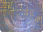 Temmoku & Medieval Green Weave Pattern Wall Bowl