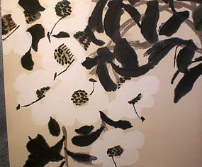 """TEA FLOWERS"" SCROLL BY CHINESE PAINTER QI BAI SHIH 2"