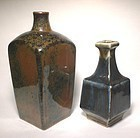 PAIR OF MOLDED VASES BY KAWAI TAKEICHI