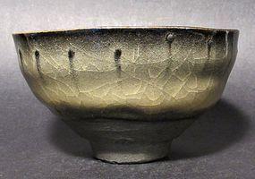 EXHIBITED NINGEN KOKUHO HORAI CHAWAN BY SHIMIZU UICHI