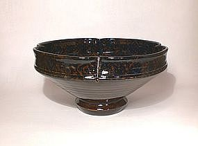 Ameyu and Gosu Cobalt Lobed Bowl