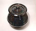 Ameyu & Copper Rain Pattern Storage Jar