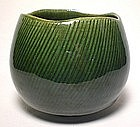 Ko-zu Oribe Chawan With Shono Pattern
