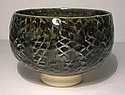 Ao Glazed Tataki Style Porcelain teabowl