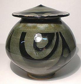"Ao Glazed Cap jar; ""Orbis"" Design"