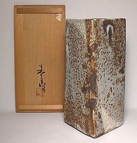 Kato Shuntei Square Shino Vase