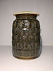 Ao & Clear Glazed Keyfret Cap Jar