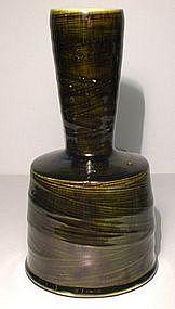 Medieval Green Hakeme Kinuta Vase