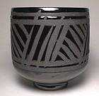 Temmoku Sukashi Grasses Travelers Teabowl