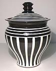 B&W Terra Cotta Ionic Covered Jar