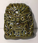 Medieval Green Temple Oni Object