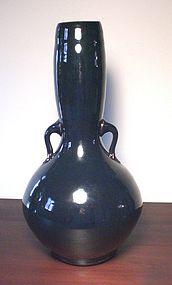 Elegant Temmoku Lugged Vase