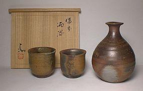 Bizen Sake Set By Isezaki Mitsuru