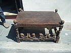 Antique Carved Hardwood Table Angolan Chokwe