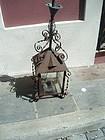 19thc French Iron Hanging Lantern