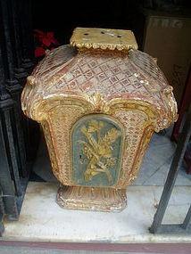Italian 18thc Carved Gilt Altar Tabernacle