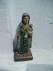 Puerto Rican 18thc Santo Virgin Del Carmen Erudito