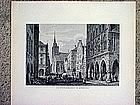 Two German Engravings-Munster-Tegersee-1860