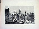 Two German Engravings-Stuttgart-Wurzburg-1860