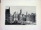 Two German Engravings-Stuttgart-Wurzburg-1860