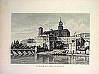 Two German Engravings-Passau-Rendsburg-1860s