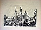 Two German Etchings-Fulda-Wiesbaden-1860s