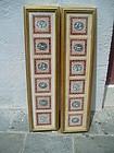 12 Italian Fornasetti Tiles Classic Motif Mounted Sgnd