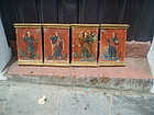 4 Spanish Colonial Paintings of 4 Evangelists 18thc