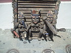 3 Carved African Ibo Royal Figures 1920s