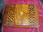 English Inlaid Letter Box Mahogany Fine 1840s