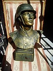 Bust of WWII German  Army Officer Plaster 1940s Sgnd
