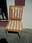 19thc Louis XVIth Side Chair Pegged & Painted