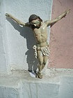 Spanish Colonial Carved Wood Crucifix Corpus 19thc
