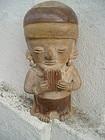 Pre Columbian Standing Figure  Peru