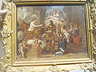 French 18thc Oil Painting Coronation Louis XIVth