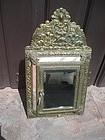 Dutch Mirror & Brass Wall Cabinet 1880s